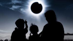Children Point to Solar Eclipse
